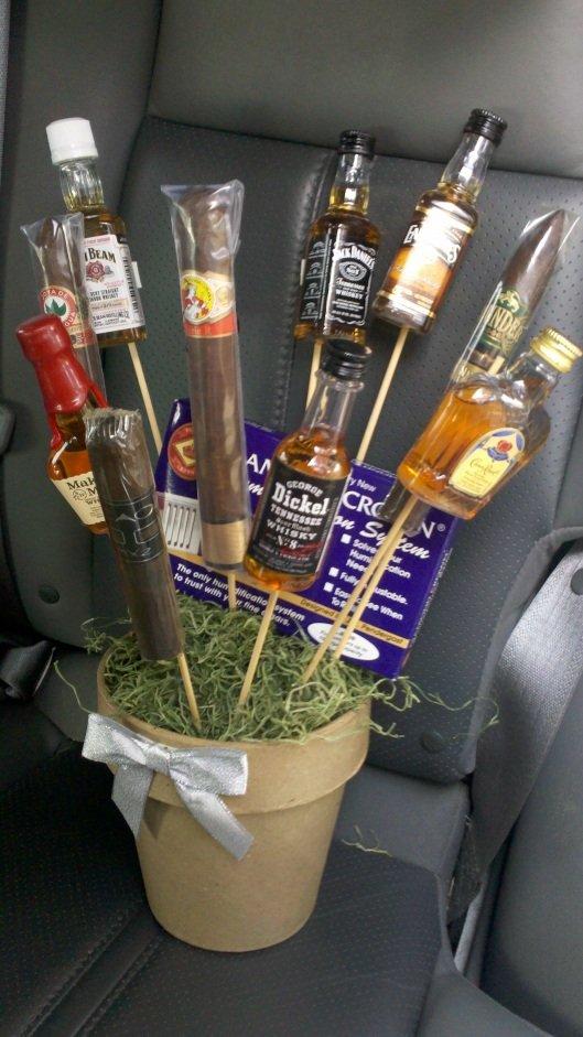 Подарок с алкоголем своими руками