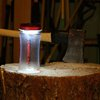 water bottle + solar powered lantern
