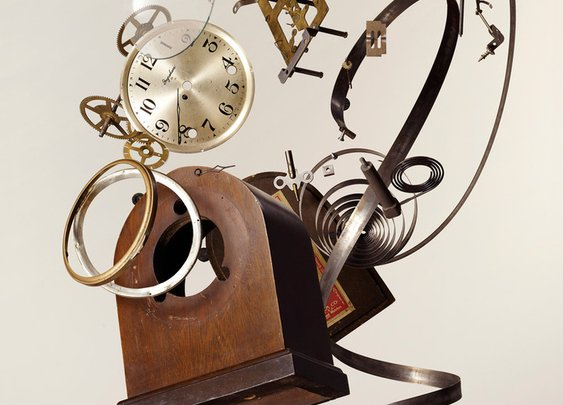 Apart Wind-Up Clock by Todd McLellan