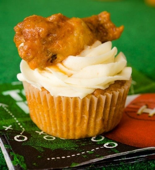 Buffalo Chicken Wing Cupcakes