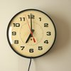 Vintage Industrial School Wall Clock Electric