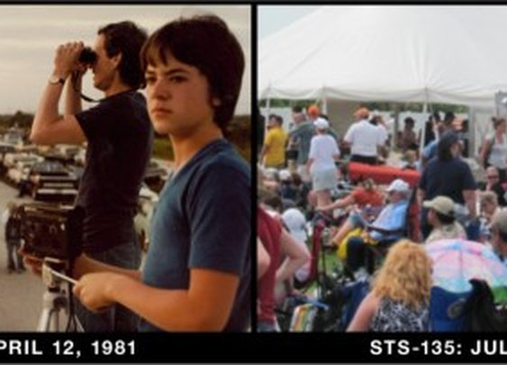 Father and Son at First and Last Shuttle Launches | Retronaut