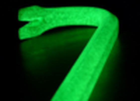 Glow in the dark crowbar for the zombie apocalypse