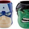 Iron Man, Captain America and The Hulk Sculptured Superhero Mugs