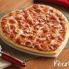 Heart Shaped Pizza from Papa Johns