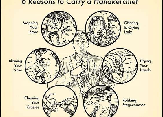 6 Reasons to Carry a Handkerchief: A Visual Guide | The Art of Manliness