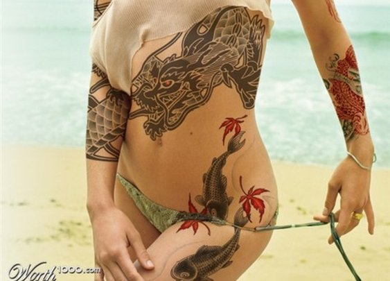 youve proabaly never wondered what Olivia Wilde would look like covered in tattoos
