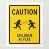 Children at Play Art Print by David Schwen | Society6