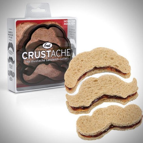 Crustache Mustache Crust Cutter by Fred & Friends