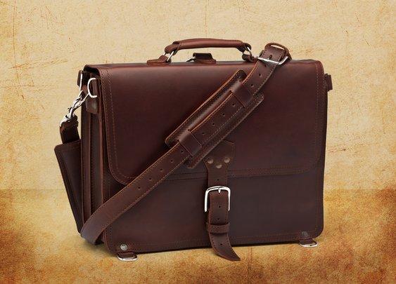My First Saddleback Briefcase
