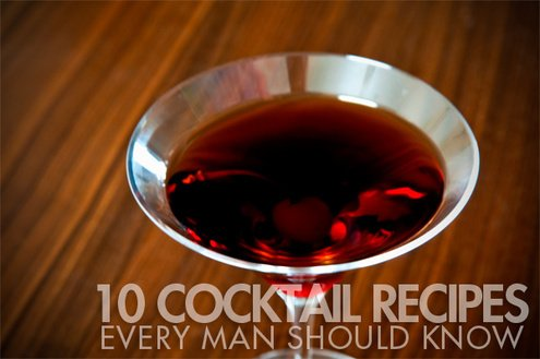10 Easy-to-Remember Classic Cocktail Recipes that Every Man Should Know