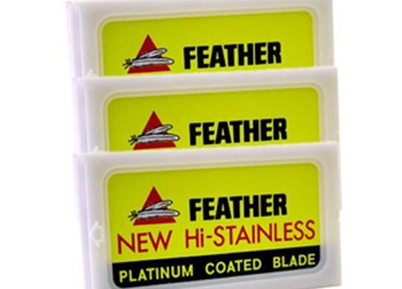 Feather Hi-Stainless Double Edged Razor Blades