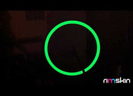 Glow-in-the-dark rimSkin: apply to your wheel and watch it glow!