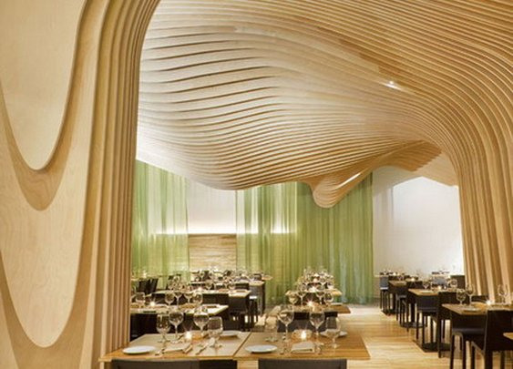 Modern Artistic Restaurant Interior Design with Beautiful Decoration   Samples Pictures Photos of Architecture Exterior and Interior Design