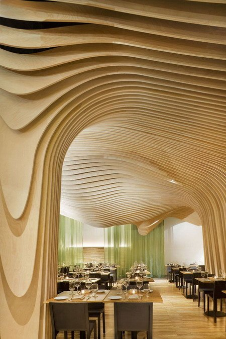 Restaurant Interior Samples : Modern artistic restaurant interior design with beautiful