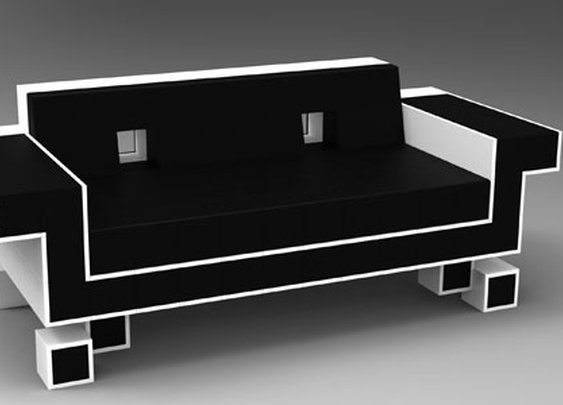 Retro Alien Couch by Igor Chak