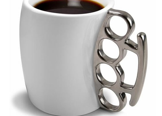 Brass Knuckle Coffee Mugs