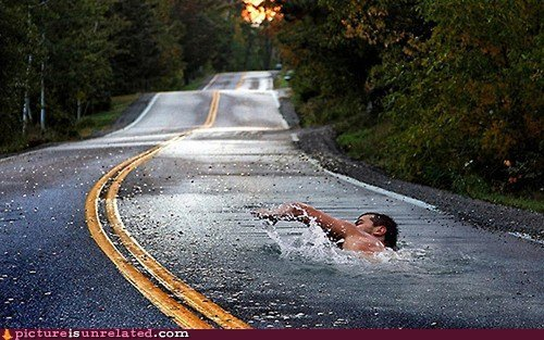 Swimming On The Road