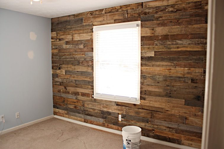 plans for accent wall made out of pallets gentlemint