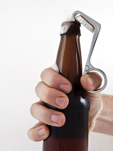 You Only Need One Hand, With This Bottle Opener - DesignTAXI.com