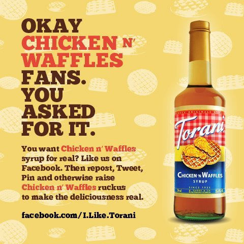 Chicken n' Waffles Syrup no longer just an April Fools joke... it's brilliant marketing | FoodOddity