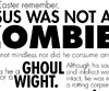 Jesus Was Not A Zombie