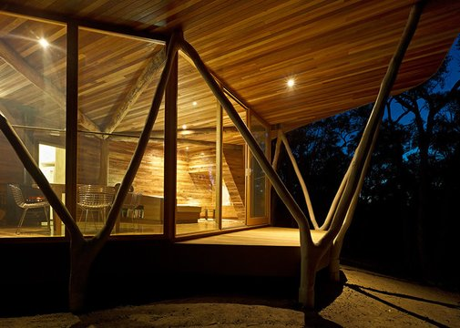 A Gorgeous Cabin In The Forest, Made From The Trees It Displaced | Co.Design: business + innovation + design