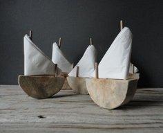 Driftwood Sailboat Napkin Holder