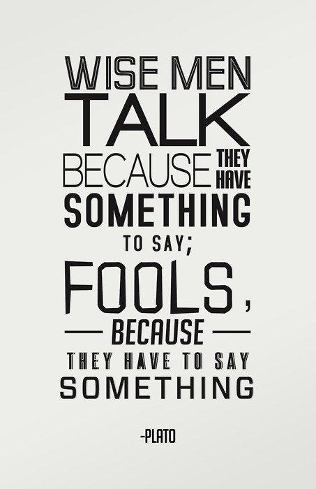 Wisdom and Foolishness