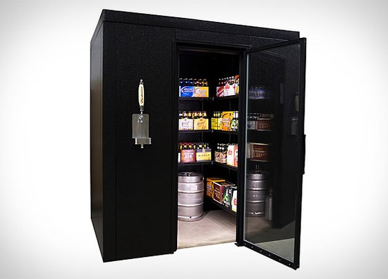Brew Cave Walk-In Beer Cooler & Kegerator | Uncrate