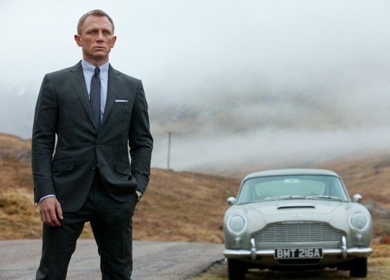 Bond is back.  Images from Skyfall production.