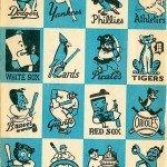 1956 Baseball Team Mascots