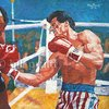 ORIGINAL oil painting of Sylvester Stallone Rocky by billpruittart