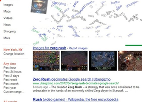 Google 'Zerg Rush' Easter Egg Invades Your Search Results
