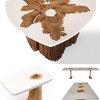 Modern Log Furniture Fuses Sliced Trunks & Organic Resins | Designs & Ideas on Dornob
