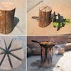 Large Log Camp Stove
