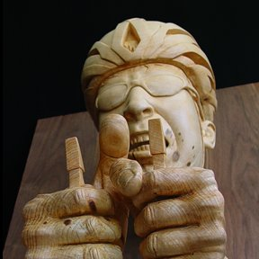 Figurative Wood Sculpture