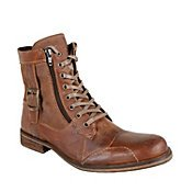 SIDECAR BROWNN LEATHER men's boot casual oxford - Steve Madden