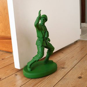Green Army Man Door Stop