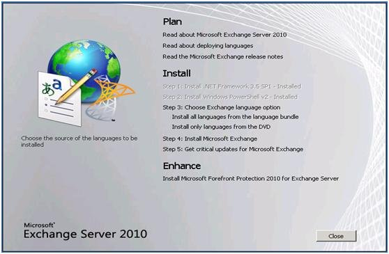 Upgrade Exchange 2003 to Exchange 2010