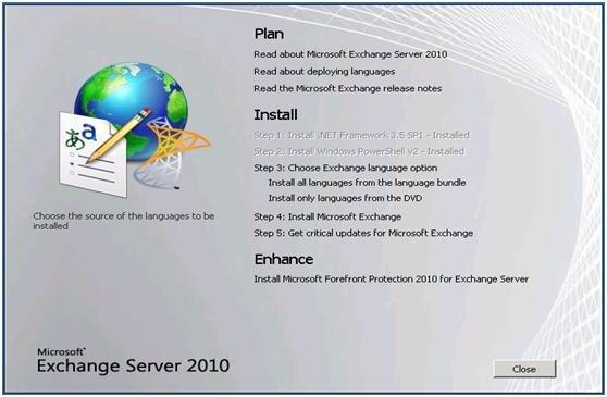 Upgrade Exchange 2003 to Exchange 2010