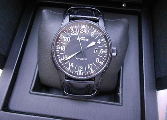 Fortis Flieger black 24h automatic   eBay