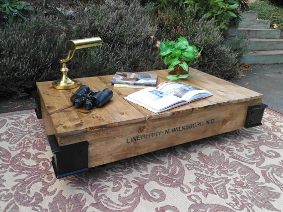 Cool, rustic industrial styled pallet coffee table - Cool, Rustic Industrial  Styled Pallet Coffee - Rustic Industrial Coffee Table IDI Design