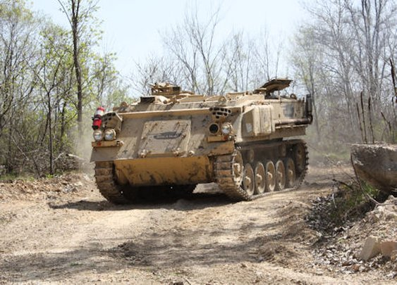 What dude wouldn't want to drive a tank?