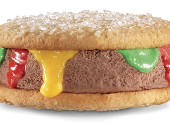 "Carl's Jr. testing the ""Ice Cream Brrrger"" [Foodbeast.com]"