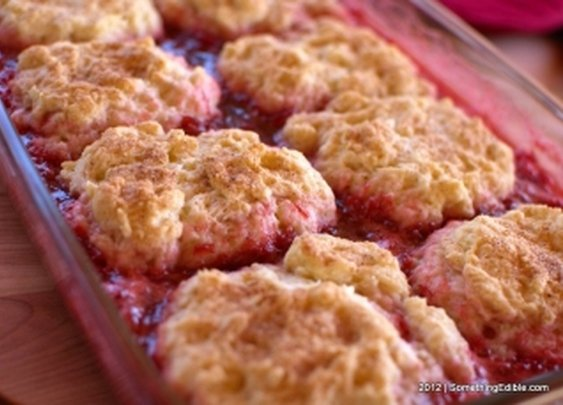 Goofy Name, Tasty Dessert: Strawberry Rhubarb Puffs.