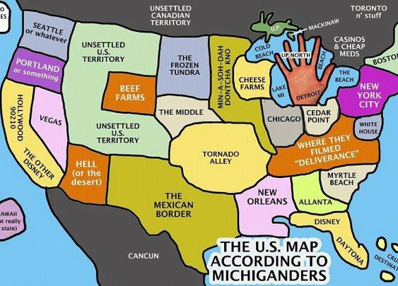 How Michiganders see the US
