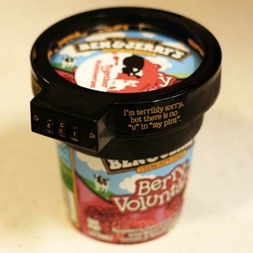 Gadget of the Day – Euphori-Lock, a lock for your Ben & Jerry's ice cream pint | Ufunk.net