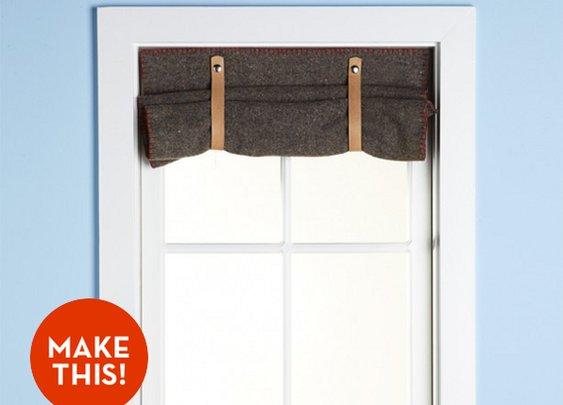 Make It: A Simple Wool Blanket Window Shade! » Curbly | DIY Design Community