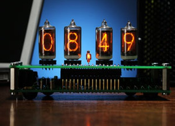 ThinkGeek :: DIY Nixie Tube Desk Clock